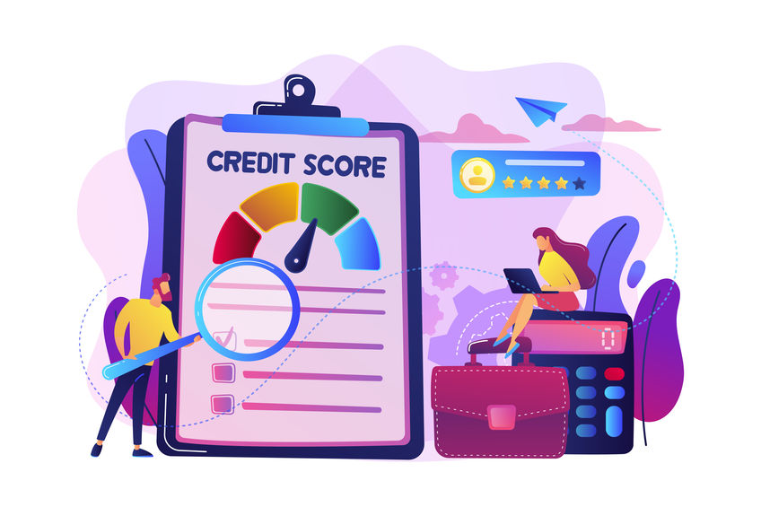 Credit rating concept